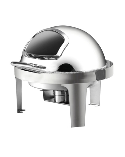 Lò hâm buffet tròn chân inox (nắp PC)