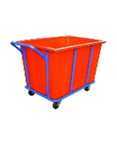 Xe chuyển đồ giặt (Laundry cart) màu cam